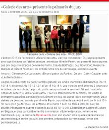 Clémence CARUANA - 1er Prix du jury à la Galerie des Arts à Barraqueville Avril 2015