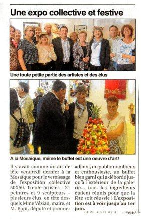 Collectif 50x50 à la Galerie la Mosaïque à Saint-Jean Mai / Juin 2016