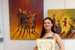 Clémence CARUANA - Prix du Conseil Général au Salon des Artistes Occitans, Juin 2015