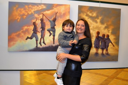 Clémence Caruana Exposition peintures Montbéron Enfants Ciel Lumière