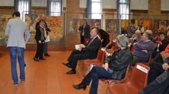 Exposition de peintures lors de la Remise des prix des Arts littéraires, au Château Catala à St-Orens Avril 2016