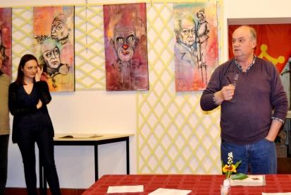 """Clémence CARUANA en exposition individuelle au Griffol à Albi """"Les Humeurs clownesques"""", du 2 au 30 Mai 2014"""