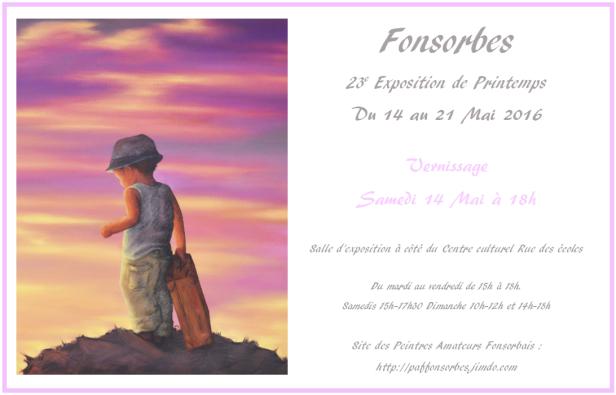 23e Exposition de Printemps à Fonsorbes Mai 2016