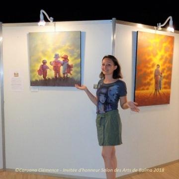 Caruana Clemence Artiste Peintre Invitee d honneur Salon des arts de Balma 2018