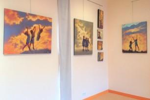 Caruana Clémence Jacques Capo Exposition de Peintures Médiathèque Villefrancghe D'albigeois Tarn Décembre 2017