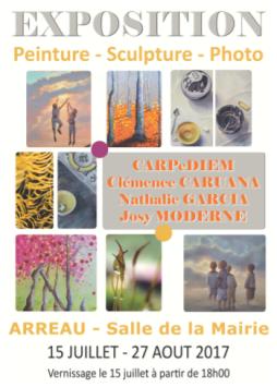 Chris Ferré, Nathalie Garcia, Josy Moderne et Clémence Caruana Exposition Arreau Ete 2017