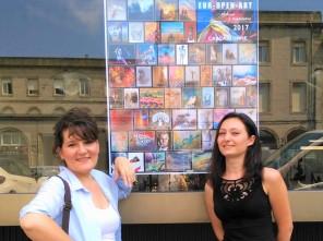 Frédérique Roche et Caruana Clémence Exposition peintures Carcassonne Août 2017