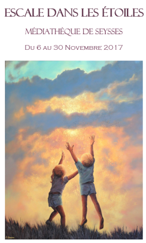 Clémence Caruana Artiste peintre Toulouse Escale dans les étoiles Médiathèque de Seysses (31) Haute-Garonne Exposition de peintures