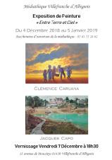 Caruana Clémence / Jacques CAPO Médiathèque Villefranche d'Albigeois Décembre 2018