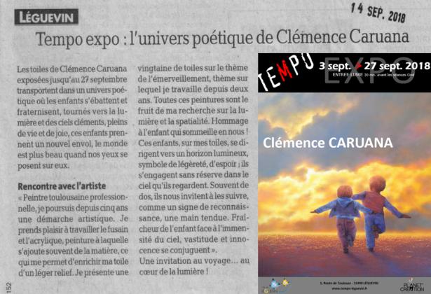 Caruana Clemence Salle de spectacle Tempo a Leguevin Septembre 2018