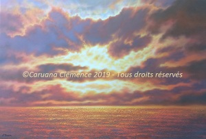 Entre Terre et Ciel - 130x89cm - Acrylique sur toile - Disponible - 2300€